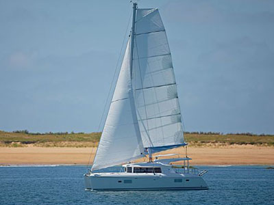 SOLD Lagoon 421  in St. Martin WHY KNOT Thumbnail for Listing Preowned Sail