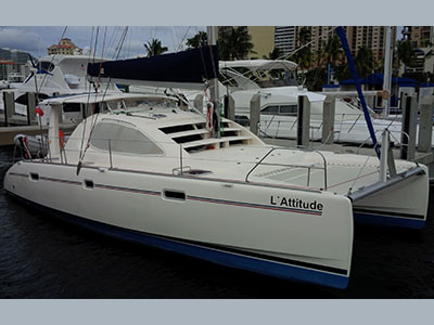 Catamarans L'ATTITUDE, Manufacturer: ROBERTSON & CAINE, Model Year: 2004, Length: 40ft, Model: Leopard 40, Condition: Used, Listing Status: Catamaran for Sale, Price: USD 220000