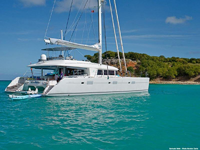 SOLD Lagoon 620   in Port De Marigot St. Martin BARBUDA BELLE  Preowned Sail