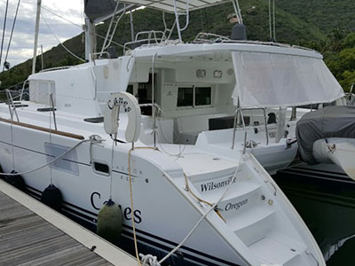 SOLD Lagoon 440  in Tortola British Virgin Islands MR CANES  Preowned Sail