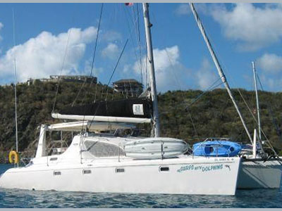SOLD Voyage 38   in Virgin Gorda British Virgin Islands SURFS WITH DOLPHINS  Preowned Sail