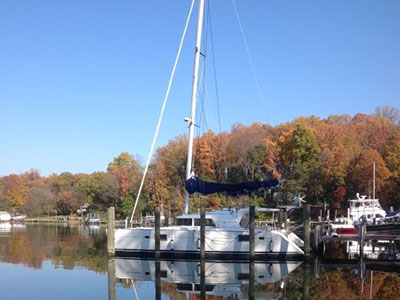 Catamaran for Sale Lagoon 440  in Pasadena Maryland (MD)  FOREVER YOUNG  Preowned Sail