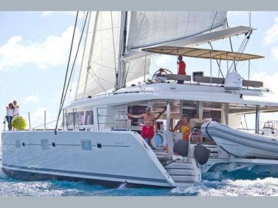 SOLD Lagoon 620   in Tortola British Virgin Islands THE CURE  Preowned Sail
