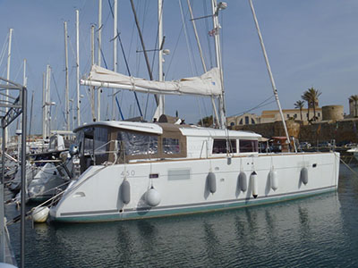 SOLD Lagoon 450  in Alghero Italy  TAM Thumbnail for Listing Preowned Sail
