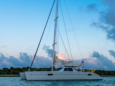 Catamaran for Sale Lagoon 55  in Fort Lauderdale Florida (FL)  TELESTIAL DISTRACTION Thumbnail for Listing Preowned Sail