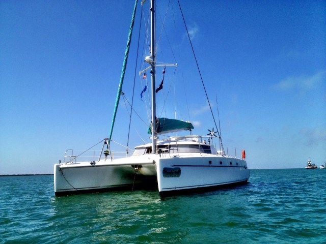 Catamarans SANDY FEET, Manufacturer: FOUNTAINE PAJOT , Model Year: 2002, Length: 43ft, Model: Belize 43, Condition: USED, Listing Status: Catamaran for Sale, Price: USD 250000