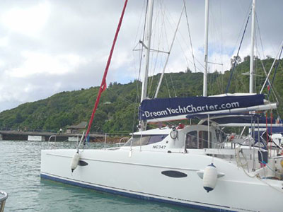 Catamaran for Sale Lavezzi 40  in La Digue Seychelles TAPAS Thumbnail for Listing Preowned Sail
