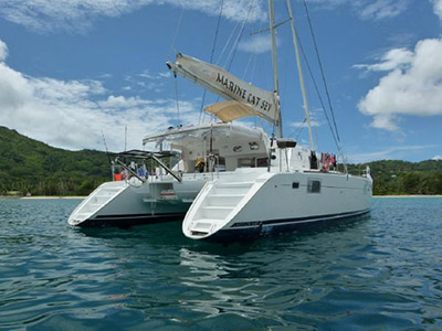 Catamarans DARIUS 1, Manufacturer: GRAND BANKS , Model Year: 2001, Length: 42ft, Model: Europa 42, Condition: USED, Listing Status: Catamaran for Sale, Price: USD 425000