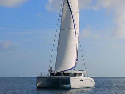 Catamaran for Sale Orana 44  in Tortola British Virgin Islands I AM FREE Thumbnail for Listing Preowned Sail