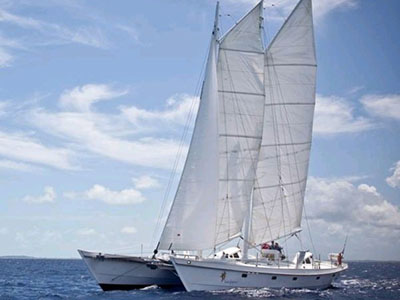 Used Sail Catamaran for Sale 2008 Gaff Rigged Schooner 64
