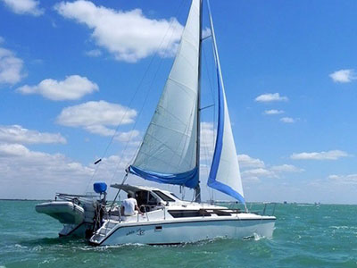 Catamarans RODE KNOT TAKEN, Manufacturer: FOUNTAINE PAJOT , Model Year: 1990, Length: 39ft, Model: Fidji 39, Condition: USED, Listing Status: Catamaran for Sale, Price: USD 135000