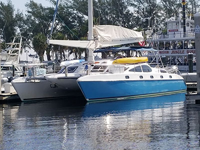Catamarans FELIX, Manufacturer: PROUT, Model Year: 1996, Length: 45ft, Model: Prout 45: Owner's Edition Aerorig Catamaran, Condition: Preowned, Listing Status: Catamaran for Sale, Price: USD 275000