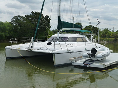 SOLD Leopard 38  in Rodney Bay St. Lucia PRAIREE CAT Thumbnail for Listing Preowned Sail