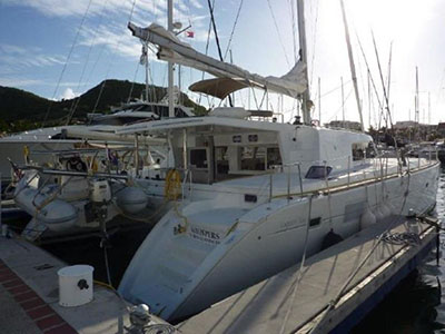 SOLD Lagoon 500  in Fort Lauderdale Florida (FL)  WHISPERS Thumbnail for Listing Preowned Sail