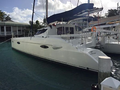 Catamaran for Sale Lavezzi 40  in Marsh Harbour Bahamas MADISON Thumbnail for Listing Preowned Sail