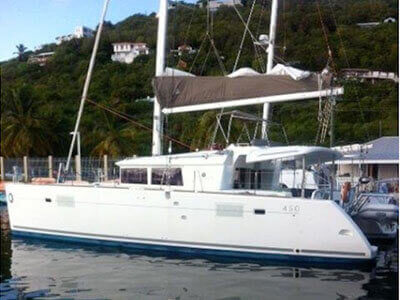 Catamaran for Sale Lagoon 450  in Tortola British Virgin Islands BETWEEN THE SHEETS  Preowned Sail