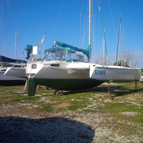 Catamarans SUNNER, Manufacturer: CUSTOM, Model Year: 1998, Length: 44ft, Model: Fast 44, Condition: Preowned, Listing Status: Trimaran for Sale, Price: USD 98500