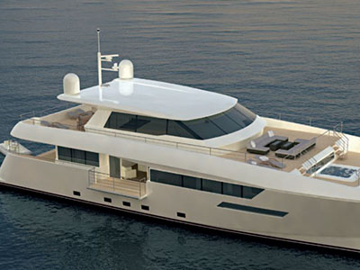 Custom Power Catamarans for Sale  Dixon Yacht Design 100 Power Custom