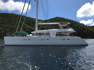 Catamaran for Sale Lagoon 620   in Fort Lauderdale Florida (FL)  THE CURE  Preowned Sail