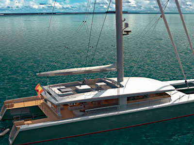 Custom Sail Catamaran for Sale  Van Peteghem - Lauriot Prevost 146 Custom