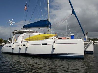 Catamaran for Sale Leopard 40  in Bahamas MYSTIQUE Thumbnail for Listing Preowned Sail