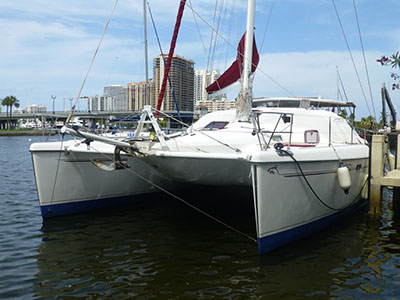 Catamarans DANCING WALRUS, Manufacturer: ALLIAURA MARINE, Model Year: 2005, Length: 49ft, Model: Privilege 495 Prestige-Owner's Version, Condition: Preowned, Listing Status: Catamaran for Sale, Price: USD 479000