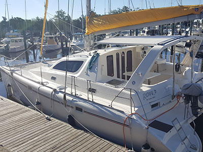 Catamarans ROVER, Manufacturer: ROBERTSON & CAINE, Model Year: 1999, Length: 37ft, Model: Leopard 3800, Condition: Preowned, Listing Status: Catamaran for Sale, Price: USD 197000