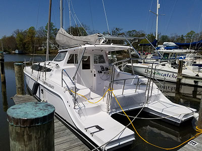 Acceptance of Vessel Legacy 35  in Edgewater  Maryland (MD)  HULL 1214  New Sail