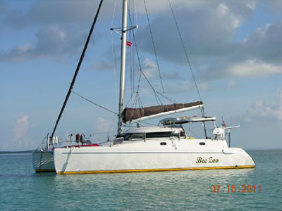 Catamarans BEE ZOO , Manufacturer: FOUNTAINE PAJOT , Model Year: 1995, Length: .35ft, Model: Tobago 35, Condition: Preowned, Listing Status: Catamaran for Sale, Price: USD 122000