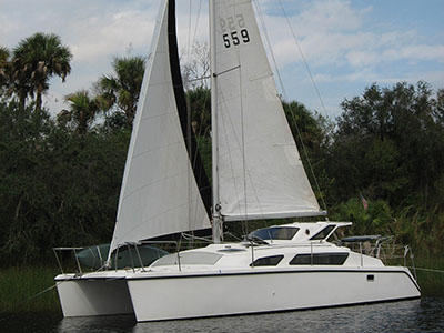 Catamarans GREEN FLASH, Manufacturer: PERFORMANCE CRUISING, Model Year: 1997, Length: 34ft, Model: Gemini 105M, Condition: Preowned, Listing Status: Catamaran for Sale, Price: USD 79900