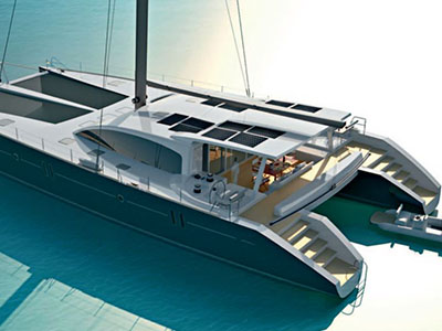 Custom Sail Catamaran for Sale  Van Peteghem - Lauriot Prevost 80 Custom