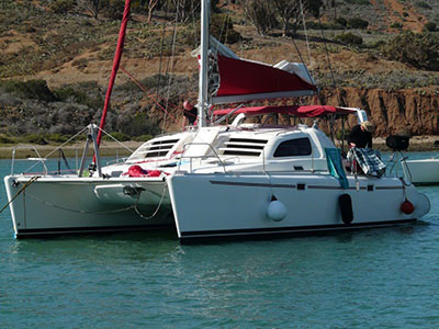 Catamarans BONZAI, Manufacturer: ROBERTSON & CAINE, Model Year: 2000, Length: 38ft, Model: Leopard 3800, Condition: Preowned, Listing Status: Catamaran for Sale, Price: USD 189000