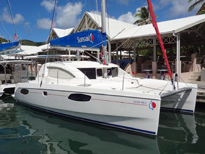 Catamaran for Sale Leopard 38  in Tortola British Virgin Islands KAMA HELE Thumbnail for Listing Preowned Sail