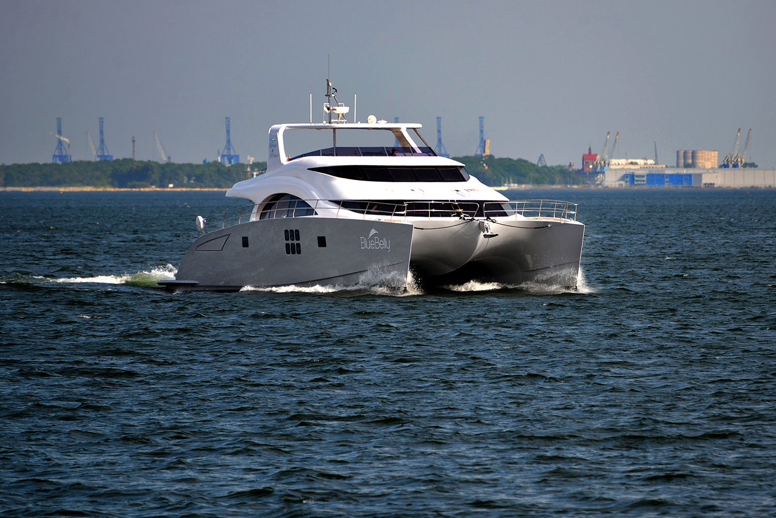 Launched 70 Sunreef Power  in Gdansk Poland BLUE BELLY  Launched Power