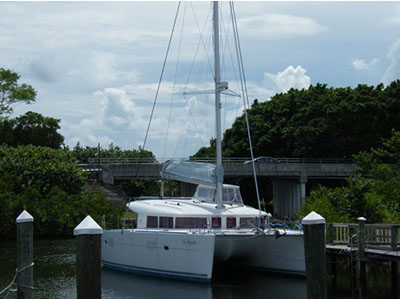 Catamaran for Sale Lagoon 400  in Jupiter Florida (FL)  LIFE AQUATIC  Preowned Sail