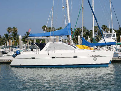 Catamarans AVENTURINE, Manufacturer: LAGOON TPI , Model Year: 1994, Length: 36ft, Model: Lagoon 37, Condition: Preowned, Listing Status: Catamaran for Sale, Price: USD 119000