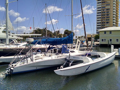 Catamarans WIND DANCER, Manufacturer: CONDOR, Model Year: 1990, Length: 40ft, Model: Trimaran 40, Condition: Preowned, Listing Status: Under Offer, Price: USD 65000
