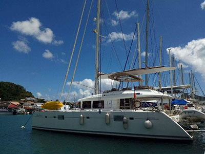 Catamaran for Sale Lagoon 560  in Sardinia Italy BLUE OCEAN Thumbnail for Listing Preowned Sail
