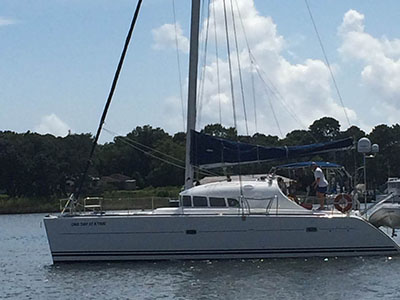 SOLD Lagoon 410  in Pensacola Florida (FL)  ONE DAY AT A TIME  Preowned Sail
