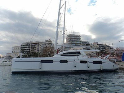 Catamaran for Sale Leopard 46   in Athens Greece LILY  Preowned Sail
