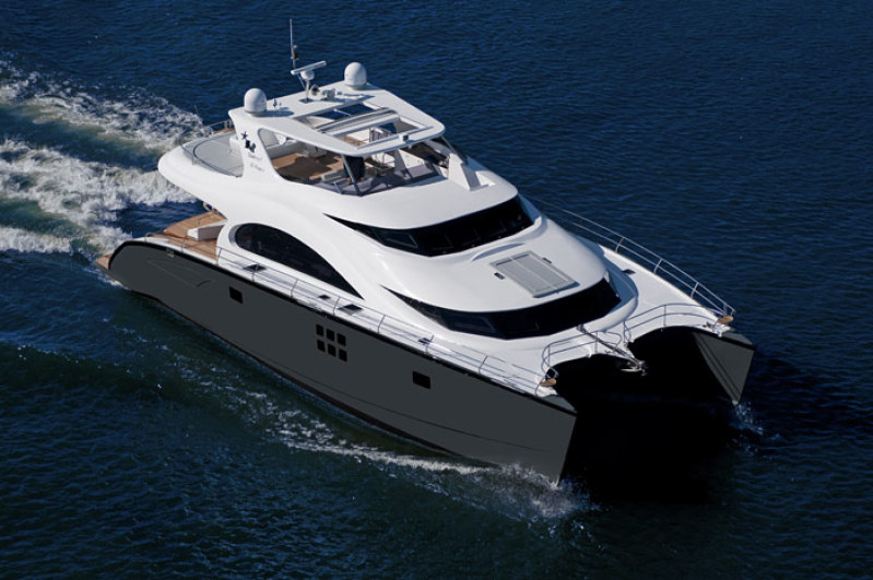 Launched 70 Sunreef Power  in Antigua and Barbuda SEA BASS  Launched Power