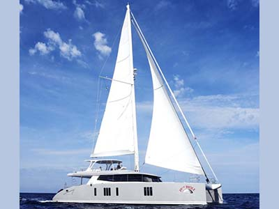 Launched Sunreef 74  in Italy 19TH HOLE  Launched Sail