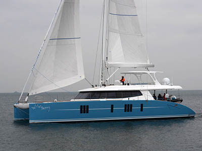 Launched Sunreef 74  in Gdansk Poland WILDBERRY  Launched Sail