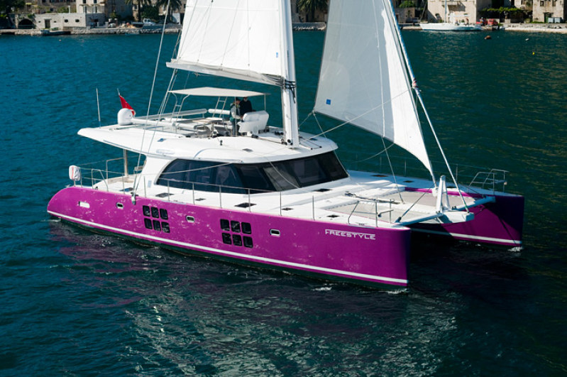 Launched Sunreef 58  in Gdansk Poland FREESTYLE  Launched Sail