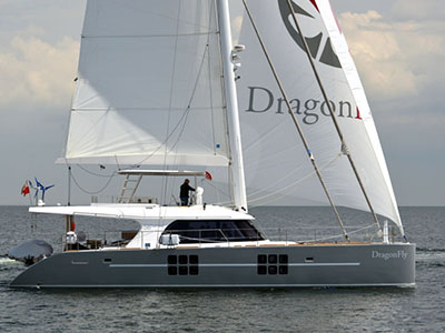 Launched Sunreef 58  in Portugal DRAGON FLY  Launched Sail