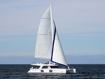 Launched Sunreef 58  in Gdansk Poland BLUE DESERT  Launched Sail