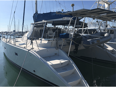 Catamaran for Sale Lagoon 42 TPI  in Cruising Nassau Bahamas RIO BUENO  Preowned Sail