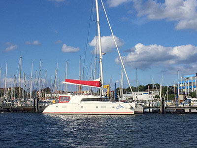 Catamaran for Sale Lagoon 500  in En Route to Barbados LEONIE  Preowned Sail