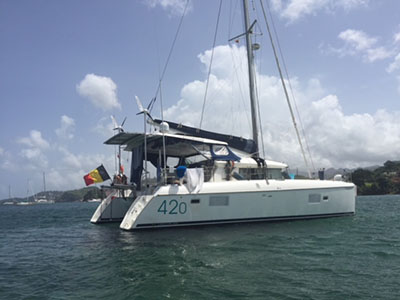 Catamaran for Sale Lagoon 420  in St. Thomas U.S. Virgin Islands VITAMINA  Preowned Sail