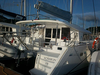Catamarans ACHARON, Manufacturer: LAGOON, Model Year: 2010, Length: 40ft, Model: Lagoon 400, Condition: Preowned, Listing Status: Catamaran for Sale, Price: EURO 210000